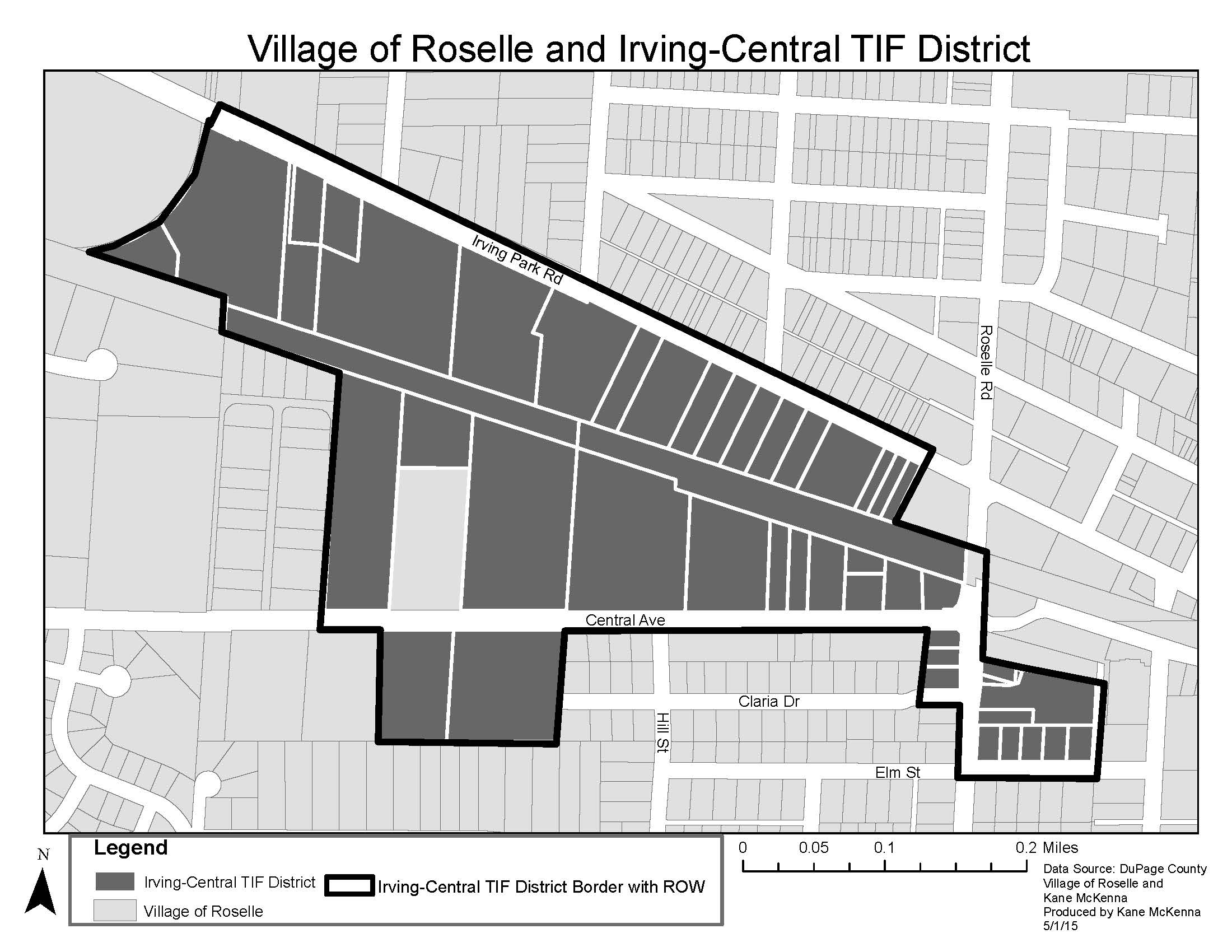 Irving Central TIF Map