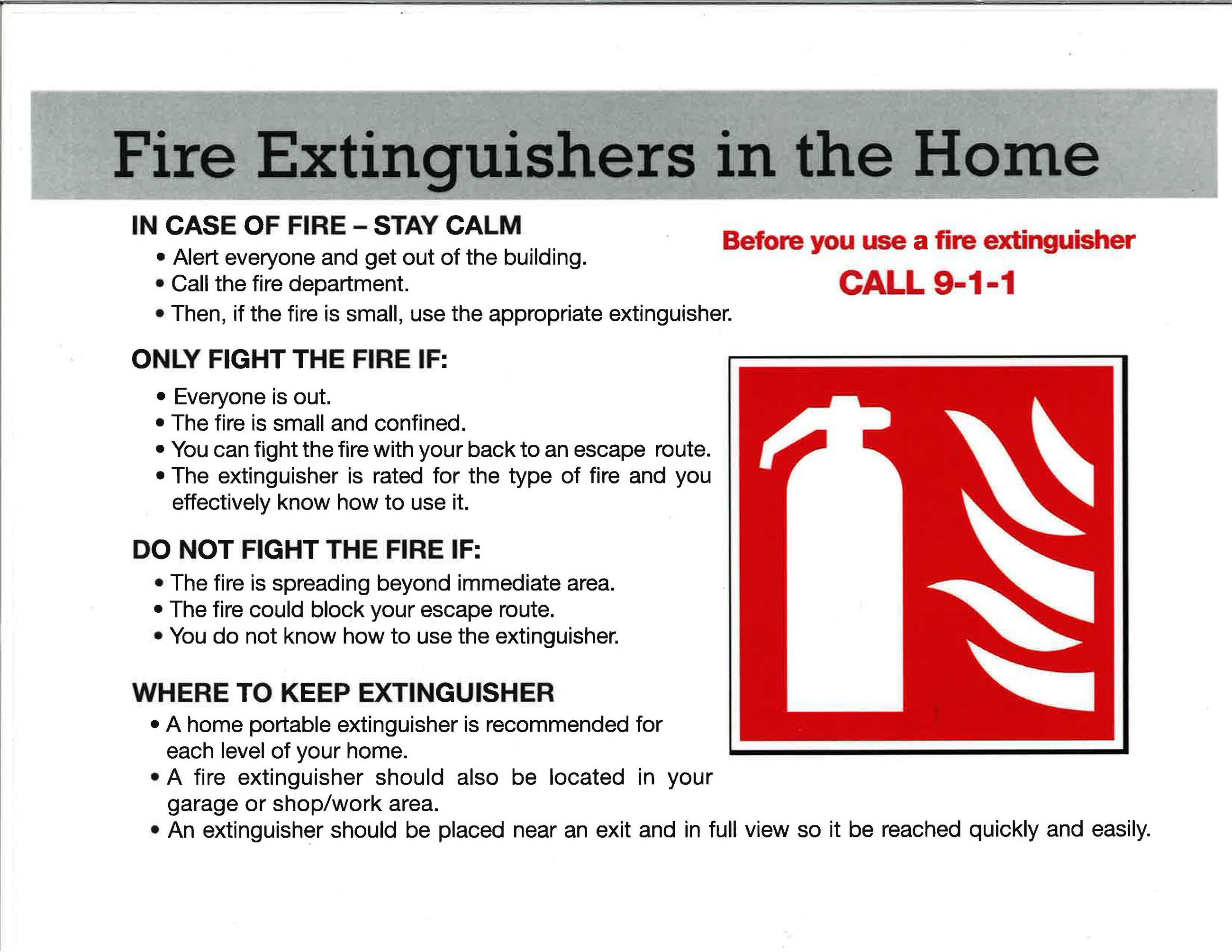 Fire Extinguishers in the Home2