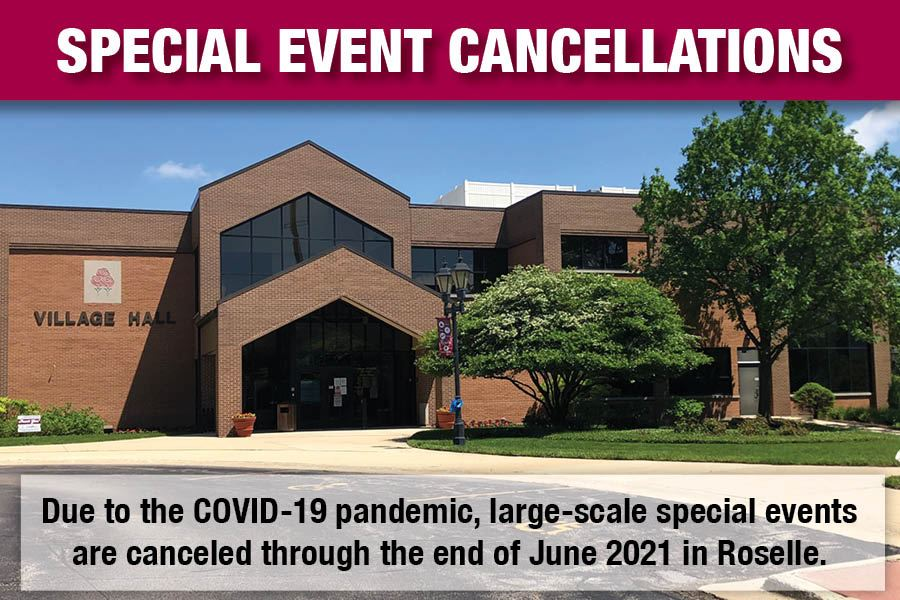 Special Events Canceled