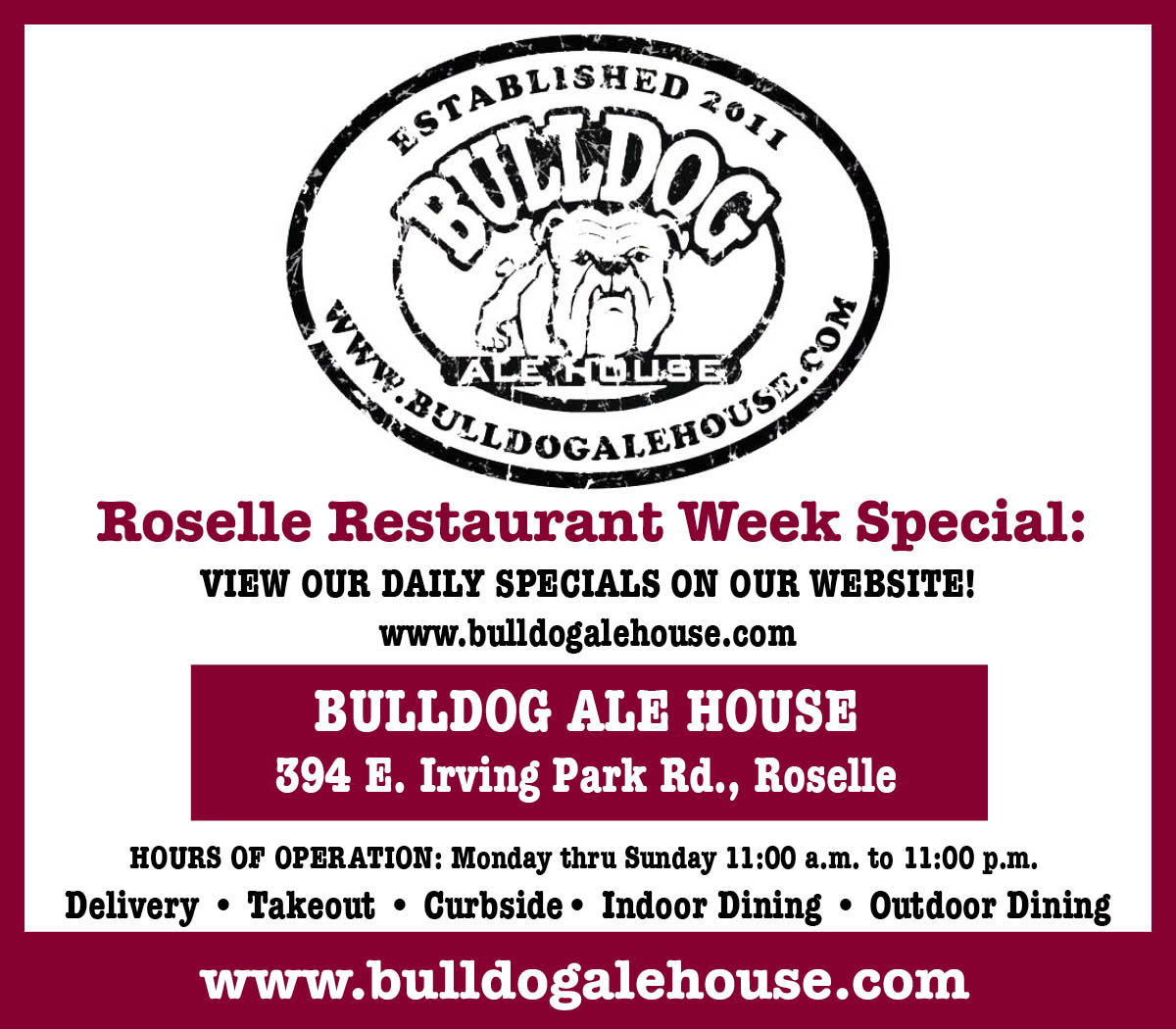 Bulldog Ale House Opens in new window