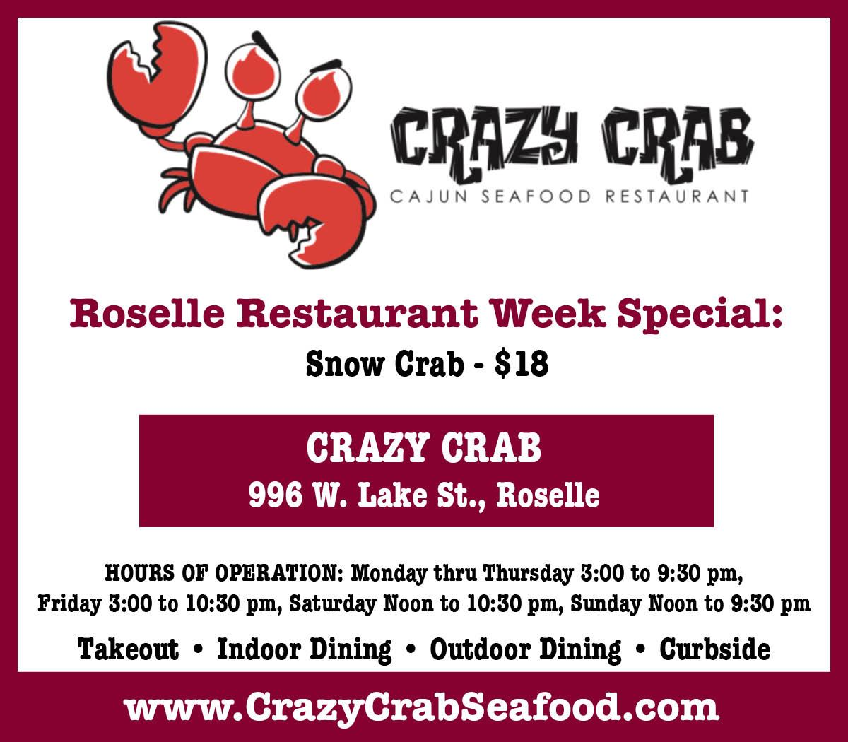 Crazy Crab Opens in new window