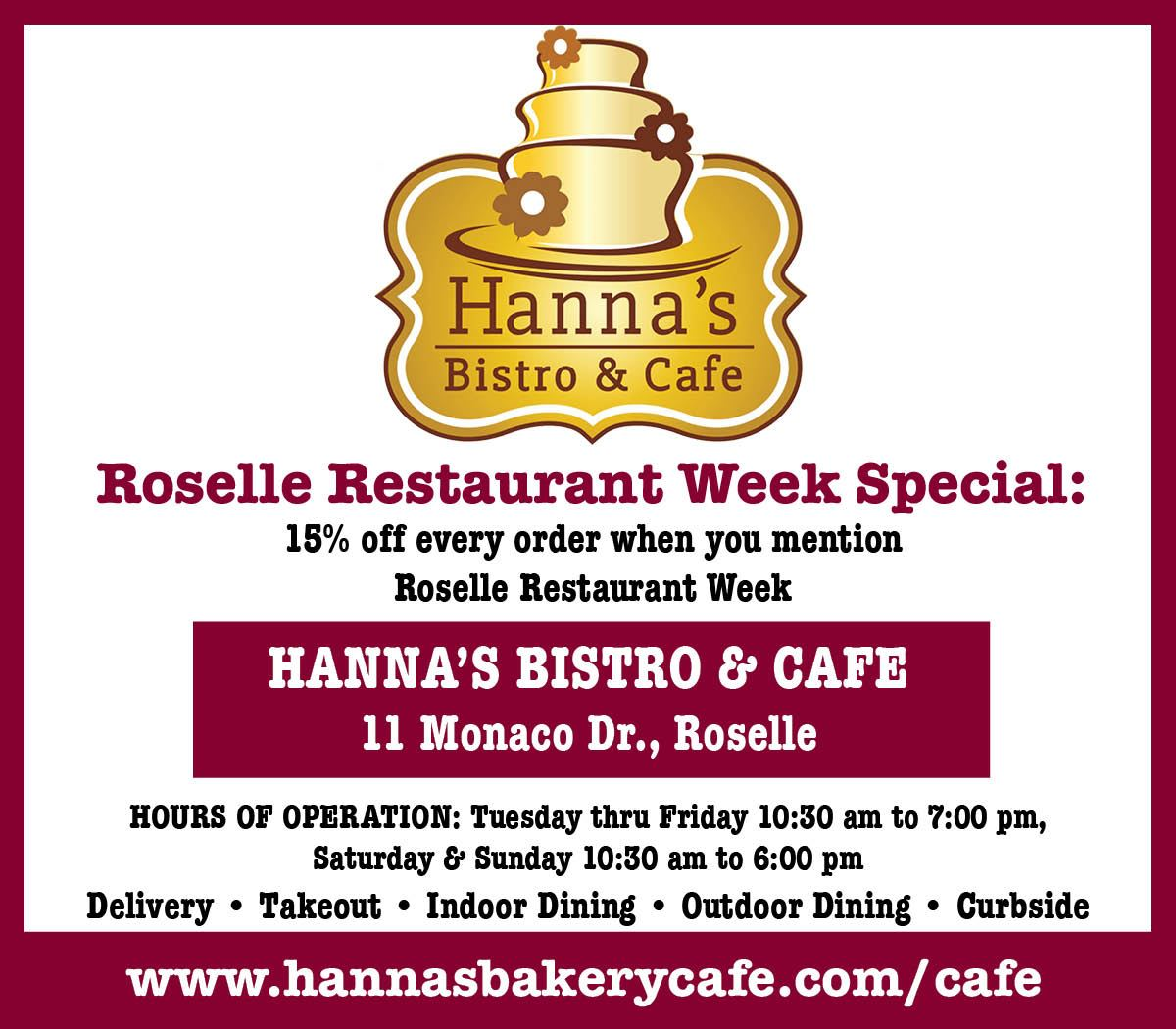 Hannah's Bistro Opens in new window
