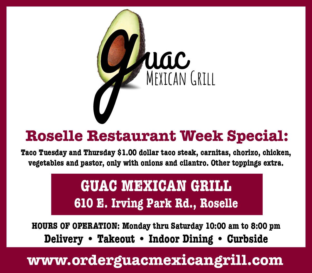 Restaurant Week Guac Opens in new window
